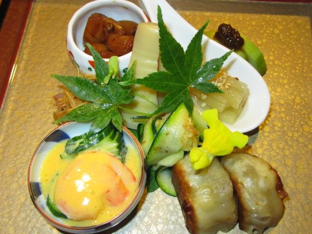 6月の献立,水無月の前菜,八寸盛り