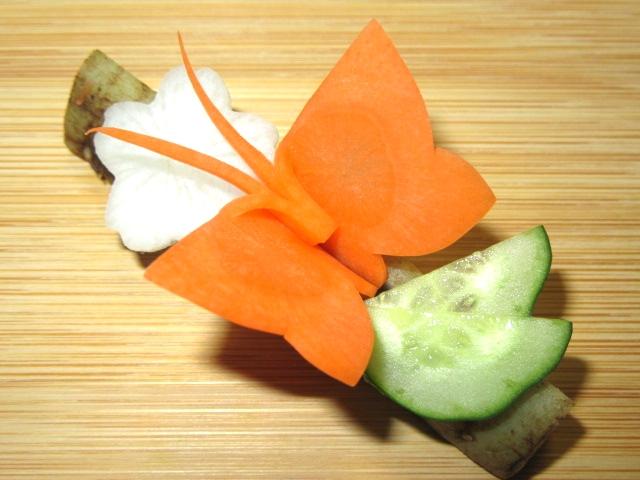 蝶々人参の飾り切り方法応用編