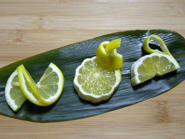 レモンの飾り切り三種盛り