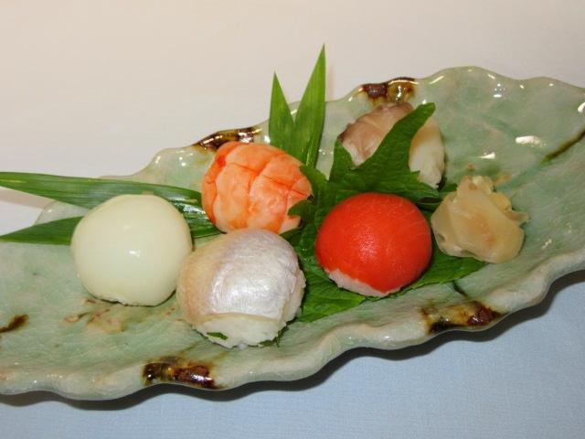 お凌ぎの献立,ご飯物,手まり寿司五種盛り
