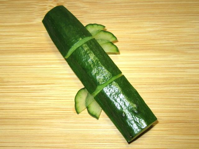 竹胡瓜の飾り切り