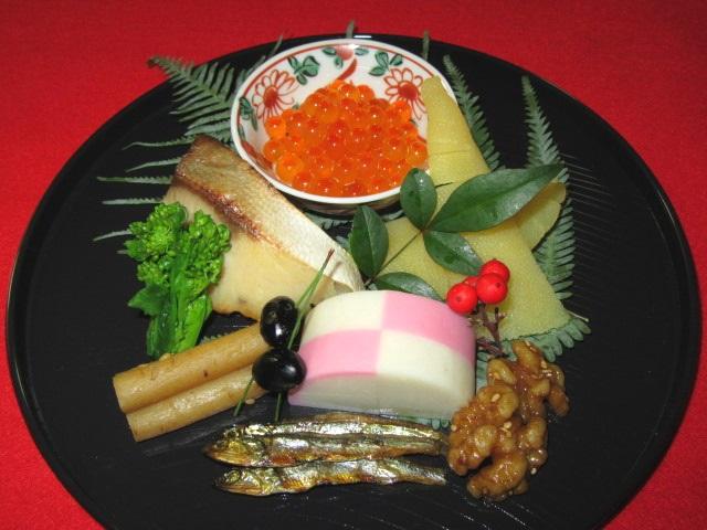 祝い膳の献立,正月の前菜,八寸