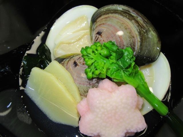 蛤の椀物画像,はまぐりの潮仕立て,吸い物の献立