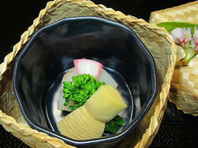 春の酢の物,先付け,鯛と筍の献立