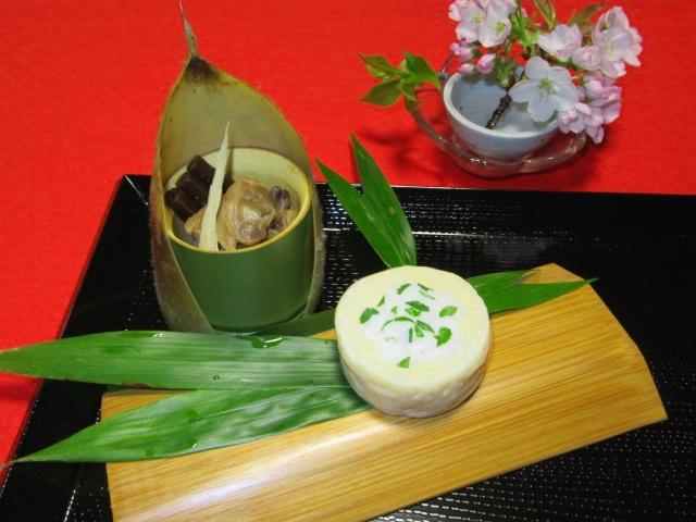 筍の木の芽寿司,お凌ぎ,春の献立
