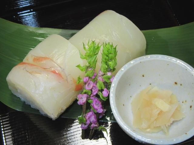 鯛の押し寿司,春のお凌ぎの献立