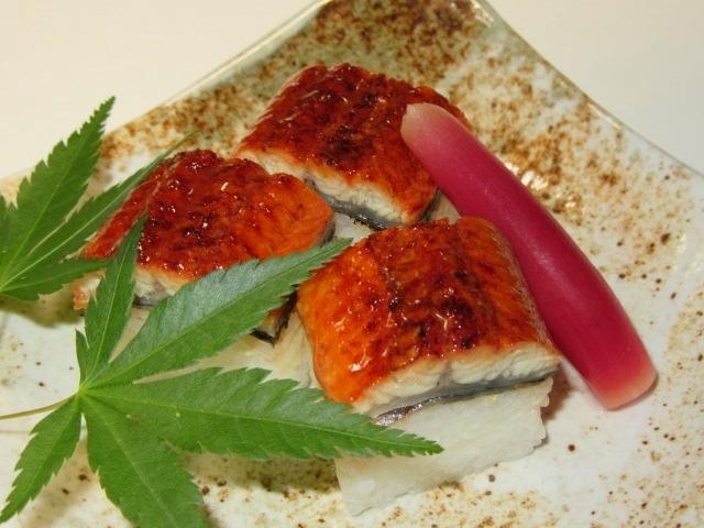 鰻料理の献立,うなぎ押し寿司