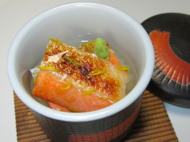 焼き鮭の飯蒸し,お凌ぎ