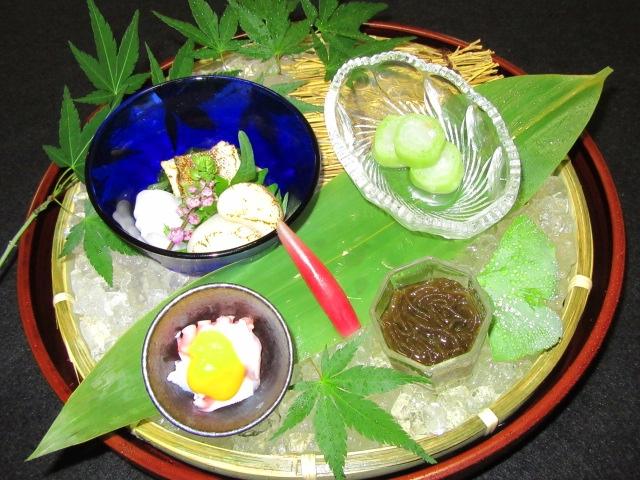 夏の酢の物盛り合わせ四種類