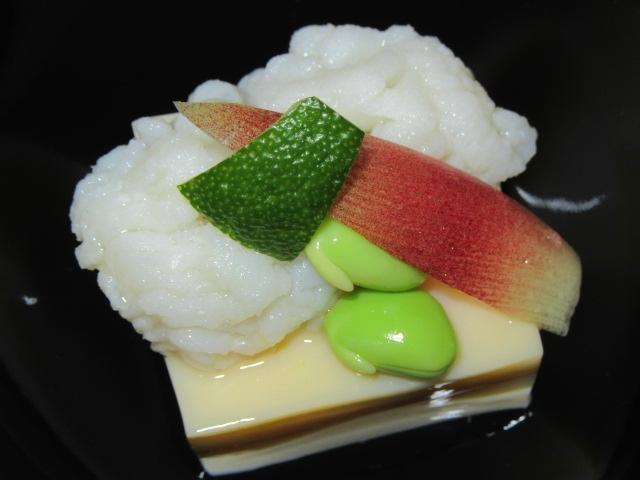 はもと玉子豆腐の吸い物椀,夏の椀盛りの献立