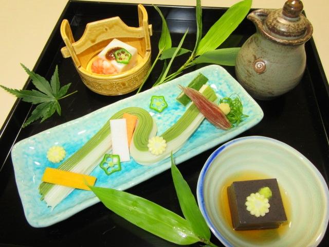二色ごま豆腐と天の川素麺