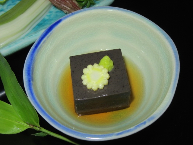 黒ごま豆腐,七夕の盛りつけ,夏の献立