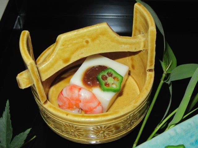 ごま豆腐,七夕の盛りつけ,夏の献立