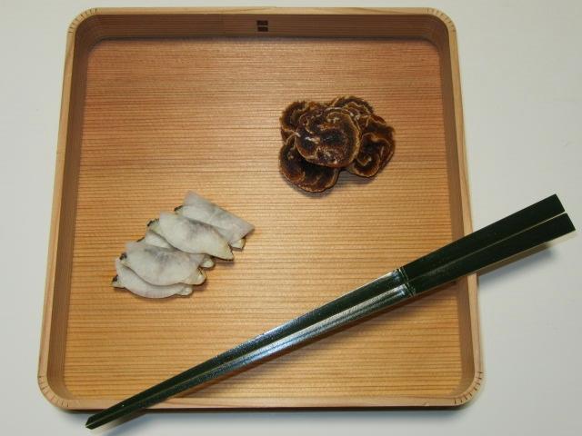 茶懐石料理の八寸盛り,さば大根,巻き干し柿