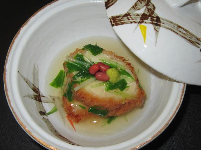鶏のパン粉揚げ,青菜あんかけ