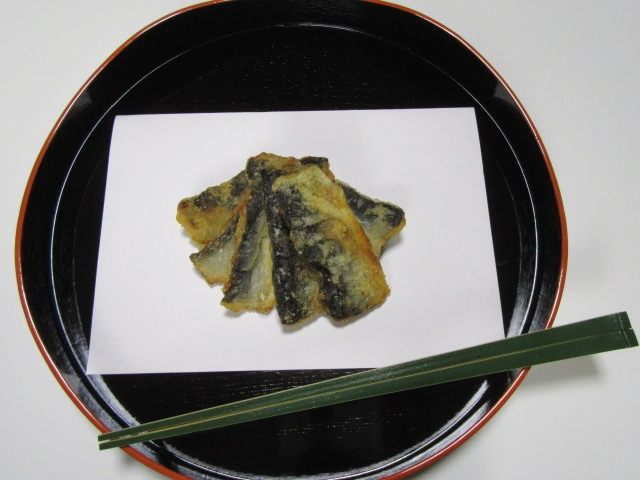 さんまの竜田揚げ,茶懐石料理,強肴,進肴