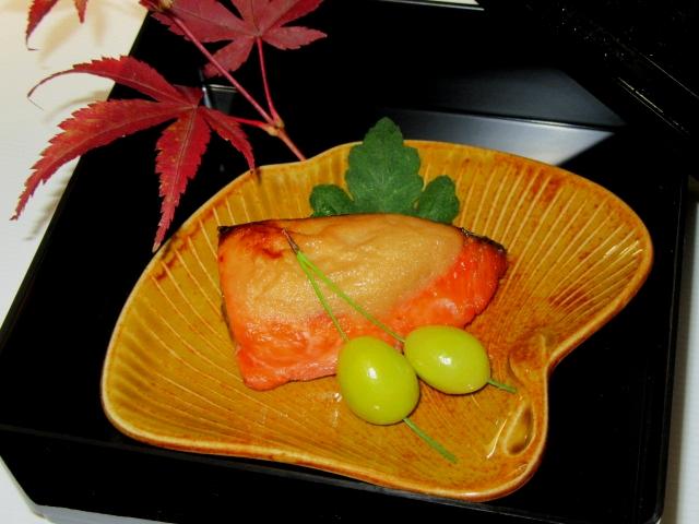 秋鮭の白子みそ焼き