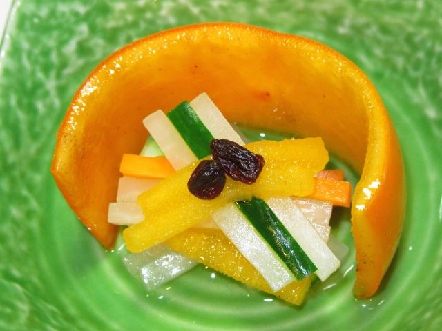 柿なます,秋の献立,酢の物