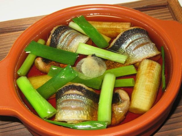 さんまの西京漬けの鍋仕立て,味噌づけ鍋物