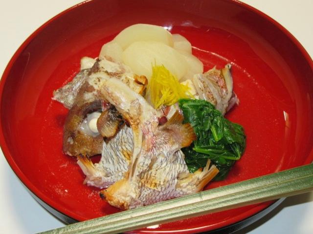 たいかぶらの盛りつけ例,茶懐石の強肴,鯛