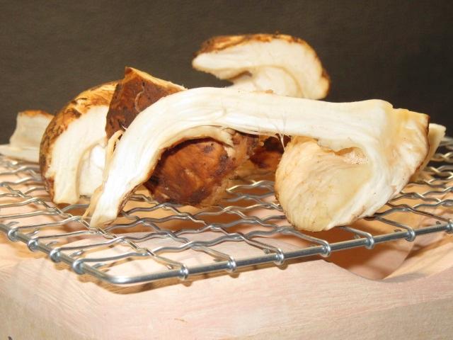 松茸の網焼き,秋の焼き物の献立