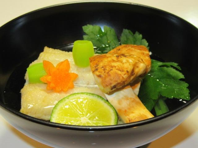 焼きはもと松茸の吸い物,椀物の献立