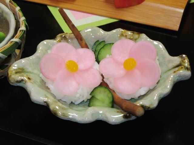 左近の桜日の菜の漬物寿司