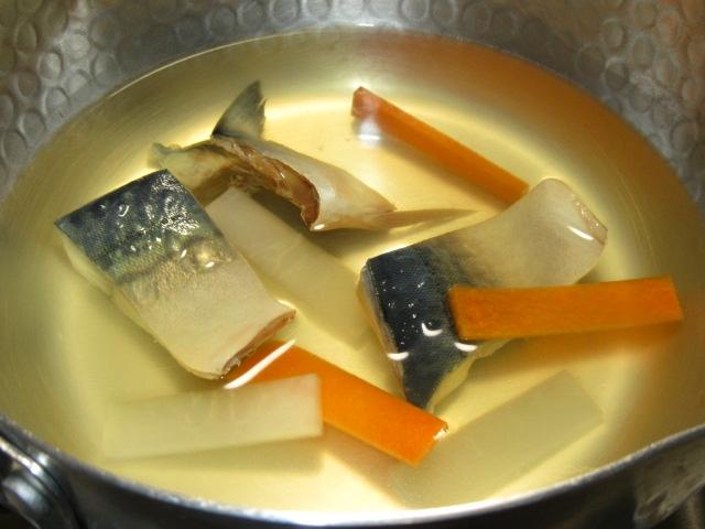 さばの船場汁の作り方,秋の椀物の献立