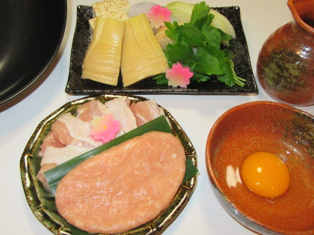 鶏肉と筍のすき焼きの作り方