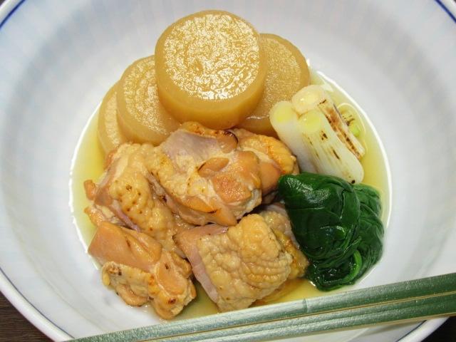 焼いた鶏肉と大根の煮物,冬のたき合わせの献立,預け鉢