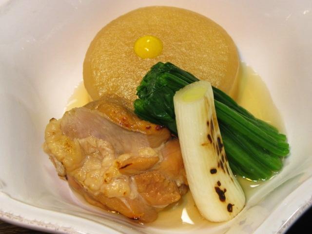 焼いた鶏肉と大根のたき合わせ,冬の煮物の献立