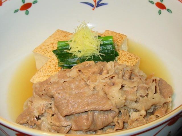 牛肉と焼き豆腐の煮物,たき合わせや預け鉢の献立