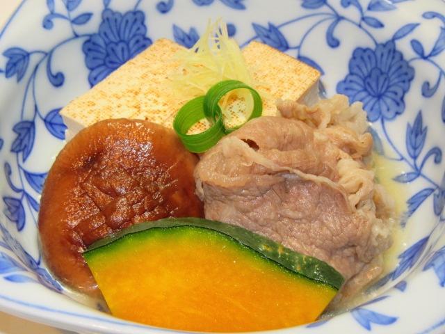肉豆腐の煮物,たき合わせの献立