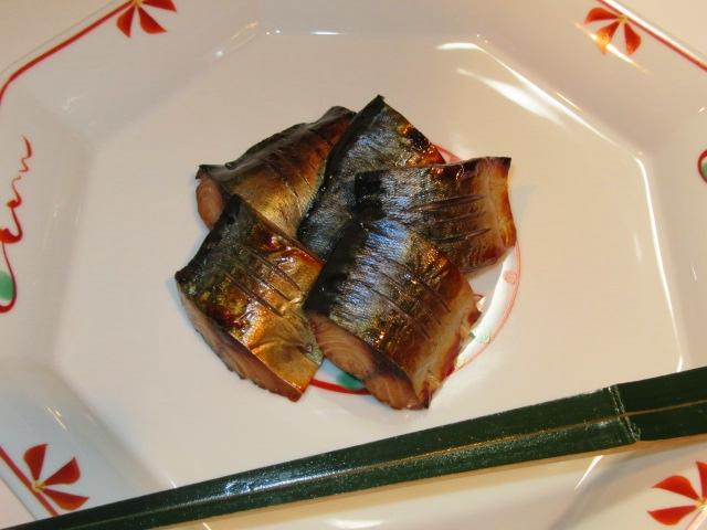 さばの柚庵焼き,茶懐石料理の焼き物,秋の献立