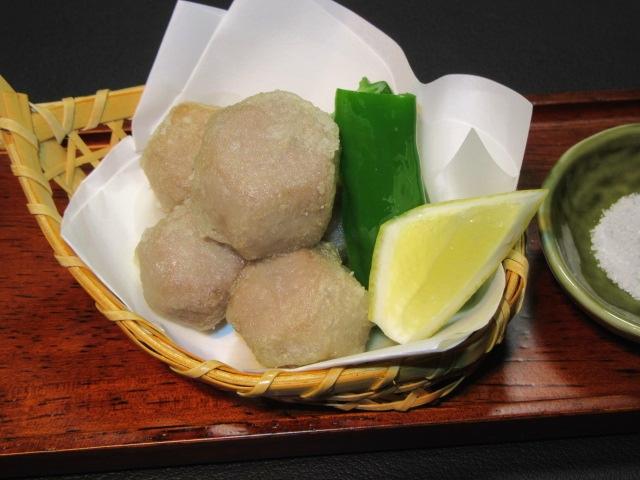 六方小芋の唐揚げ,万願寺唐辛子,レモン,晩夏の揚げ物の献立
