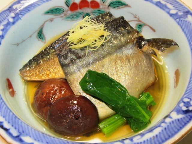 鯖と椎茸の煮物