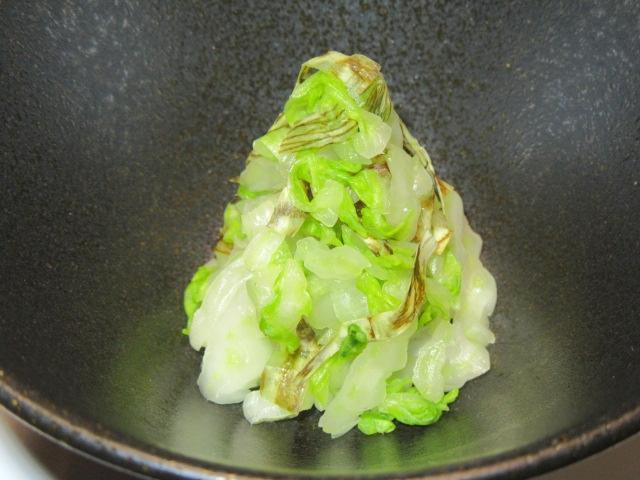 白菜の松前和え