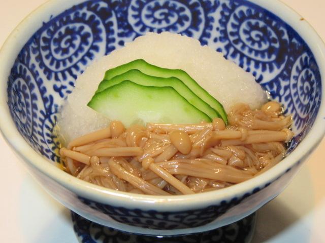 えのき茸の旨煮を使ったなめ茸おろし,小鉢料理の献立