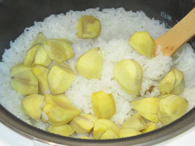 栗ご飯の炊き方,仕上がり写真
