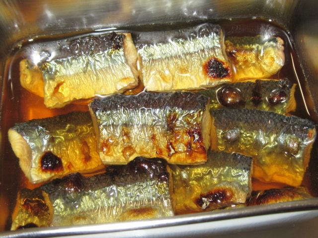 焼きさんまの酢浸しの作り方